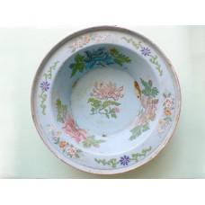 Vintage Porcelain Painted Wash Basin