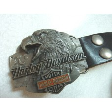 Harley Davidson Eagle Head Buckle with Leather Belt
