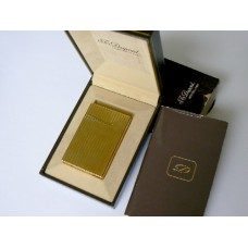 S.T. Dupont de Paris Gold Plated Vertical Lines Lighter