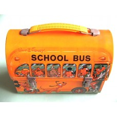 Walt Disney School Bus Metal Lunch Box (1960's)