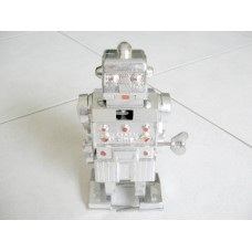 AOKI Toy Silver Mechanical Walking and Sparking Robot